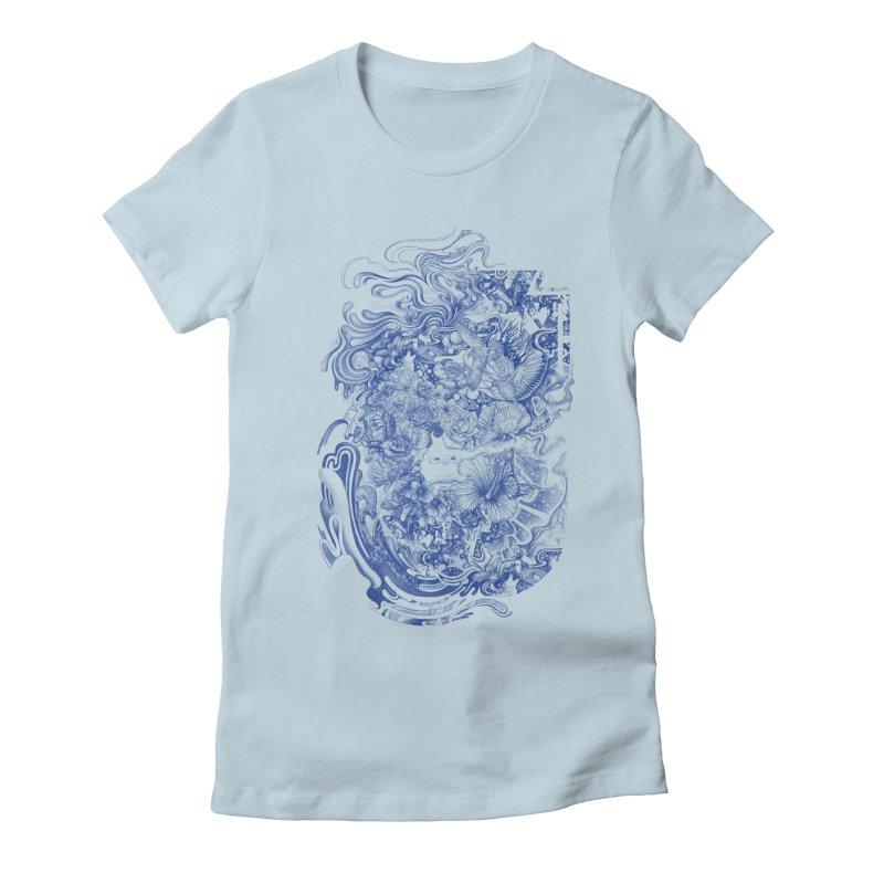 Dream on dream Women's Fitted T-Shirt by makapa's Artist Shop