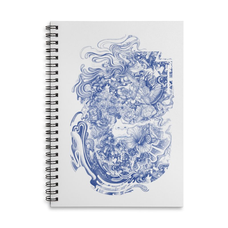 Dream on dream Accessories Lined Spiral Notebook by makapa's Artist Shop