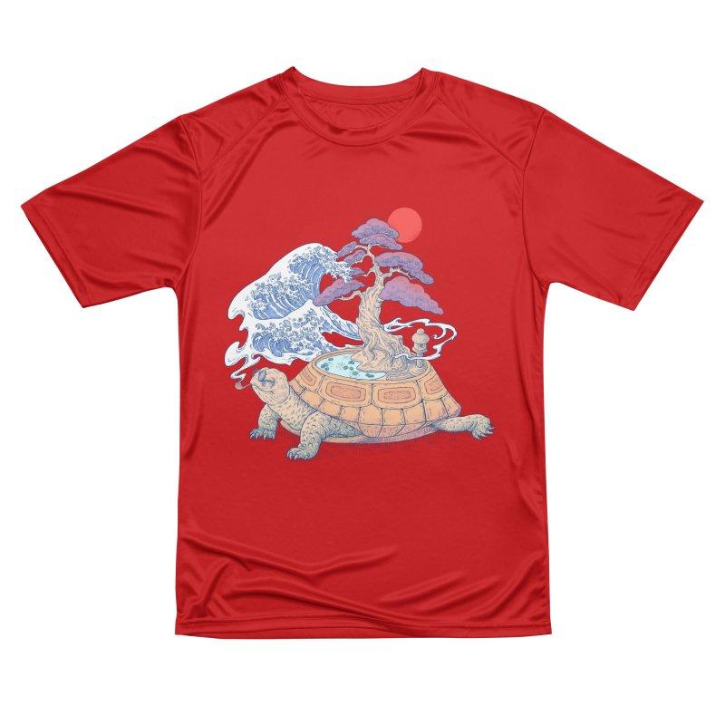 Turtle garden Women's Performance Unisex T-Shirt by makapa's Artist Shop