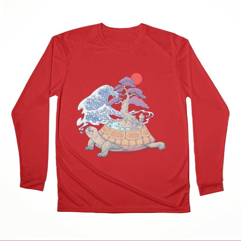 Turtle garden Men's Performance Longsleeve T-Shirt by makapa's Artist Shop