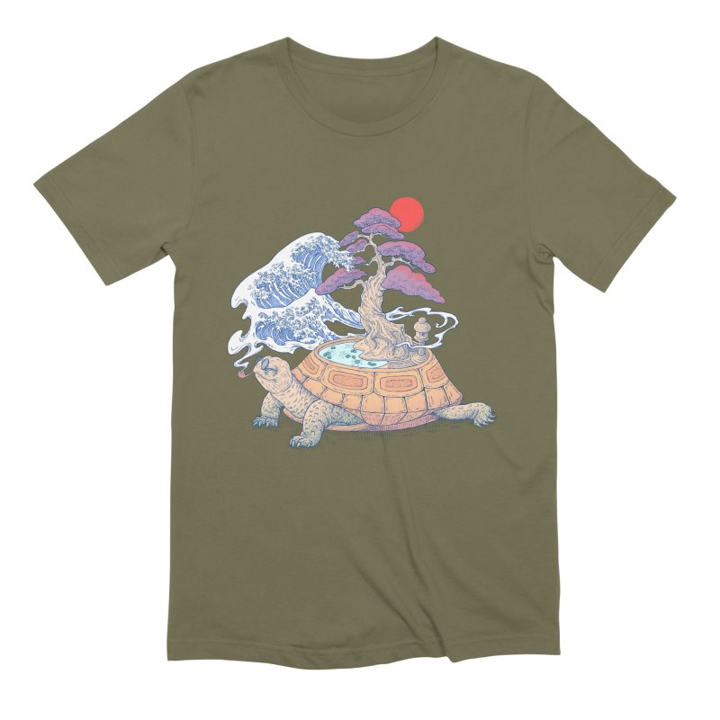 Turtle garden Men's Extra Soft T-Shirt by makapa's Artist Shop