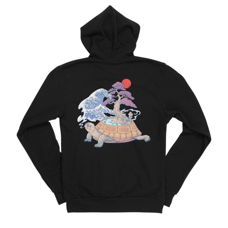 Turtle garden Women's Sponge Fleece Zip-Up Hoody by makapa's Artist Shop