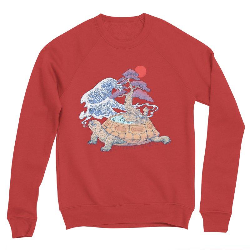 Turtle garden Women's Sponge Fleece Sweatshirt by makapa's Artist Shop
