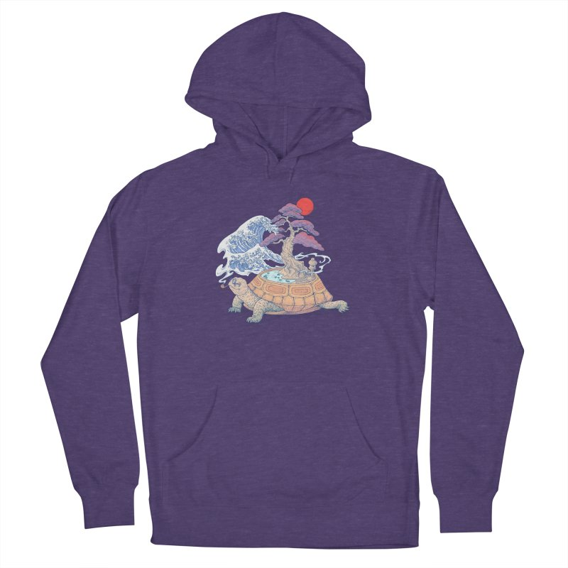 Turtle garden Men's French Terry Pullover Hoody by makapa's Artist Shop
