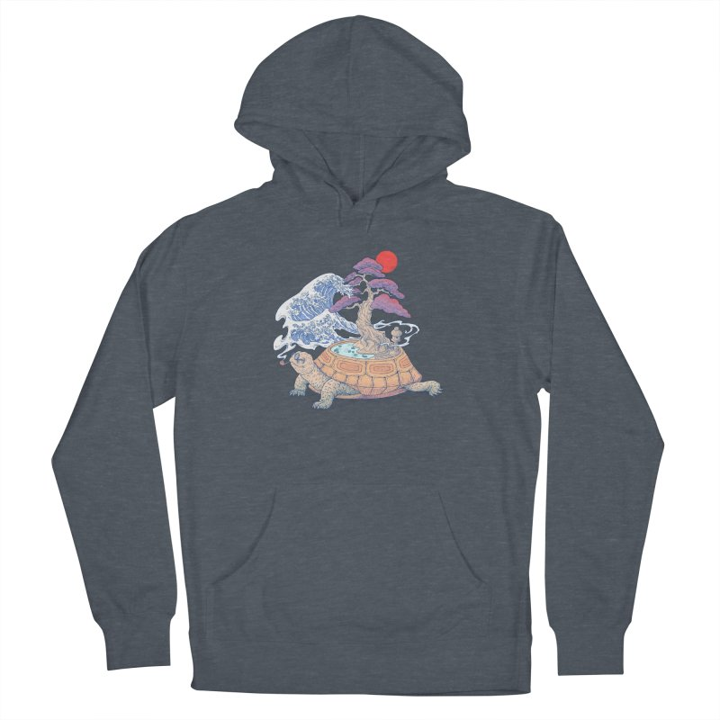 Turtle garden Women's French Terry Pullover Hoody by makapa's Artist Shop