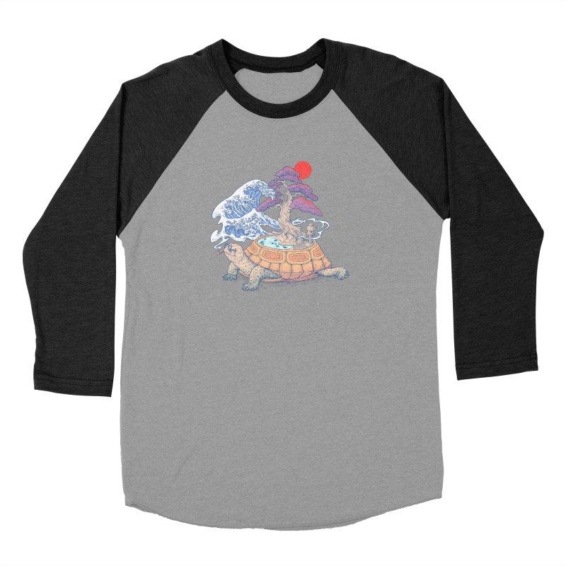 Turtle garden Women's Baseball Triblend Longsleeve T-Shirt by makapa's Artist Shop