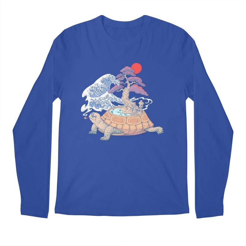Turtle garden Men's Regular Longsleeve T-Shirt by makapa's Artist Shop