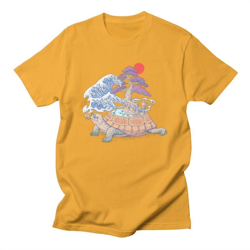 Turtle garden Men's Regular T-Shirt by makapa's Artist Shop