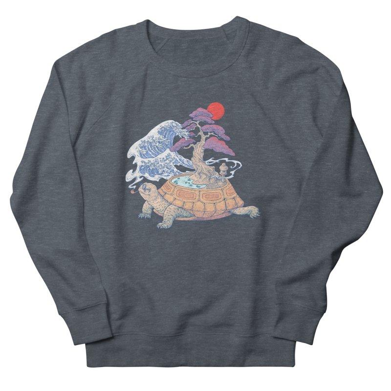 Turtle garden Men's French Terry Sweatshirt by makapa's Artist Shop