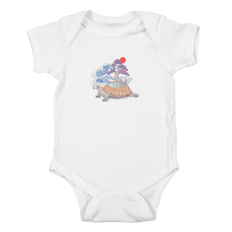 Turtle garden Kids Baby Bodysuit by makapa's Artist Shop