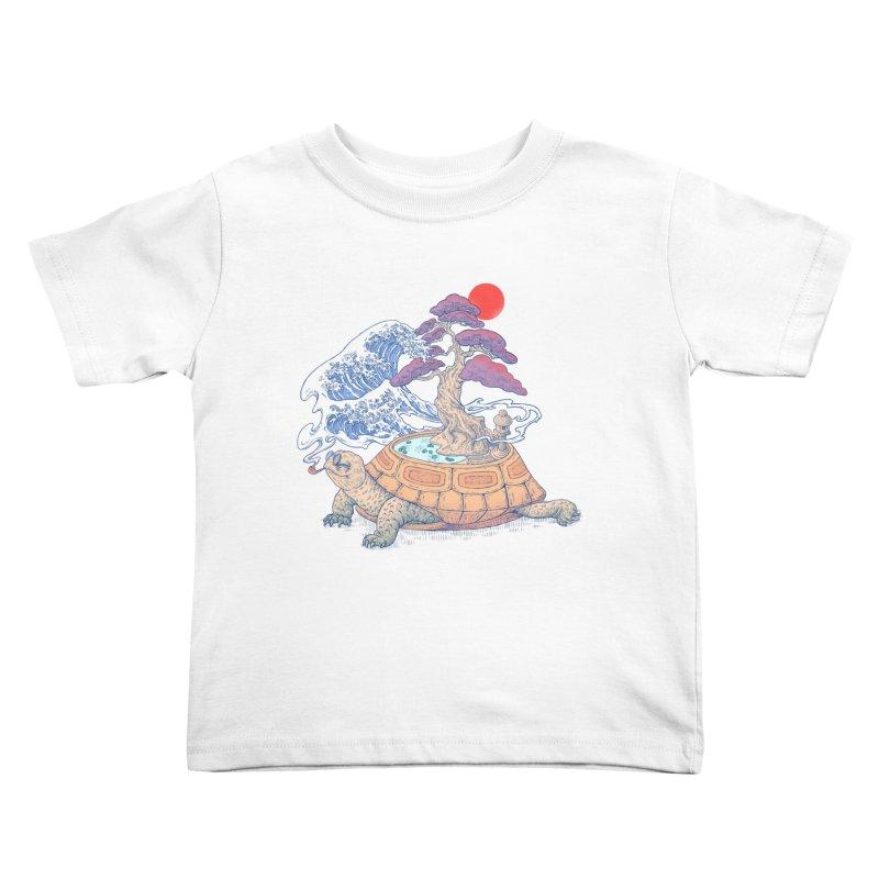 Turtle garden Kids Toddler T-Shirt by makapa's Artist Shop