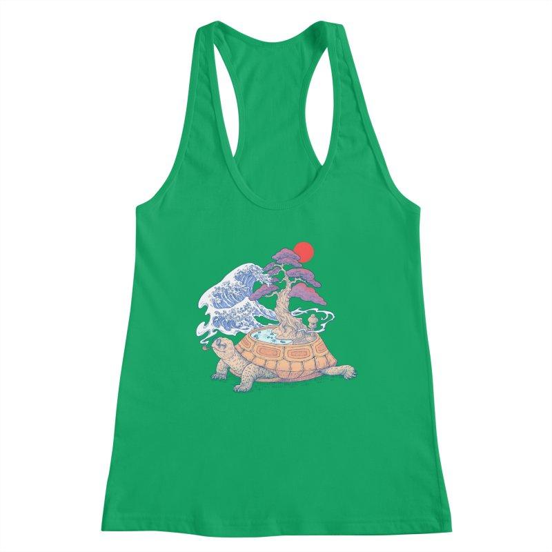 Turtle garden Women's Racerback Tank by makapa's Artist Shop