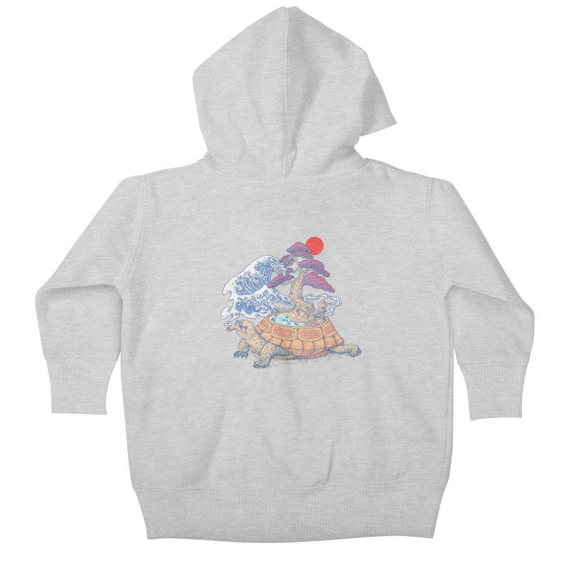 Turtle garden Kids Baby Zip-Up Hoody by makapa's Artist Shop
