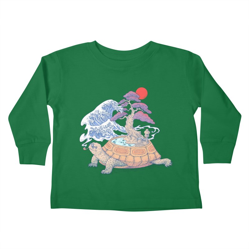 Turtle garden Kids Toddler Longsleeve T-Shirt by makapa's Artist Shop