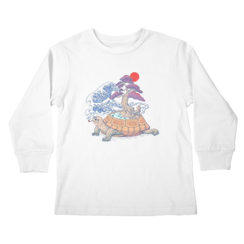Turtle garden Kids Longsleeve T-Shirt by makapa's Artist Shop