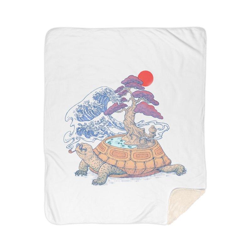 Turtle garden Home Sherpa Blanket Blanket by makapa's Artist Shop