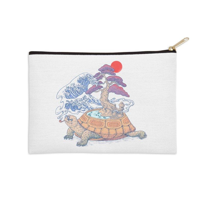 Turtle garden Accessories Zip Pouch by makapa's Artist Shop