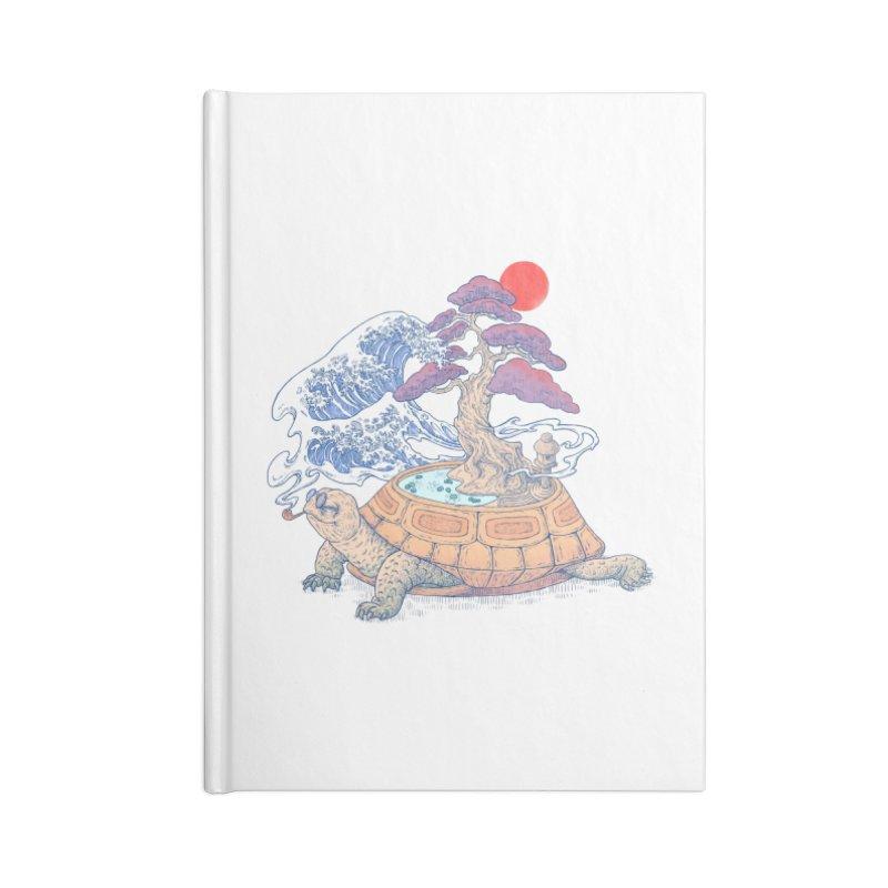 Turtle garden Accessories Lined Journal Notebook by makapa's Artist Shop
