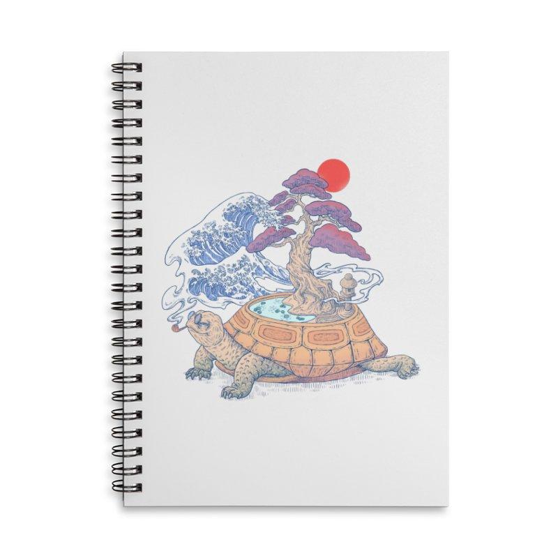 Turtle garden Accessories Lined Spiral Notebook by makapa's Artist Shop