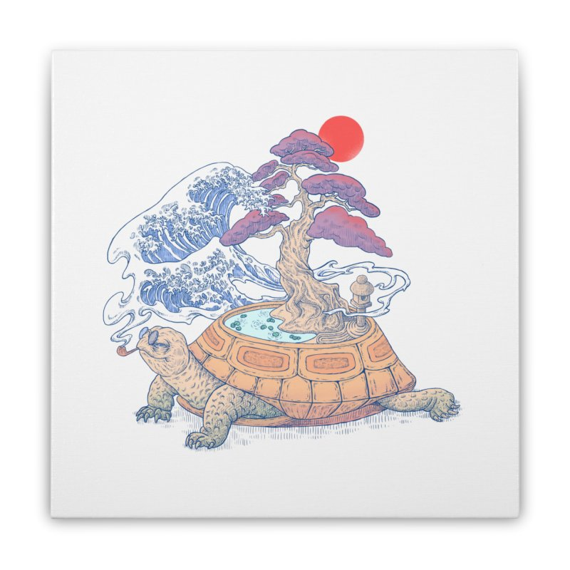 Turtle garden Home Stretched Canvas by makapa's Artist Shop