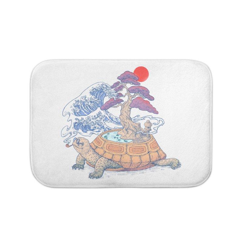 Turtle garden Home Bath Mat by makapa's Artist Shop