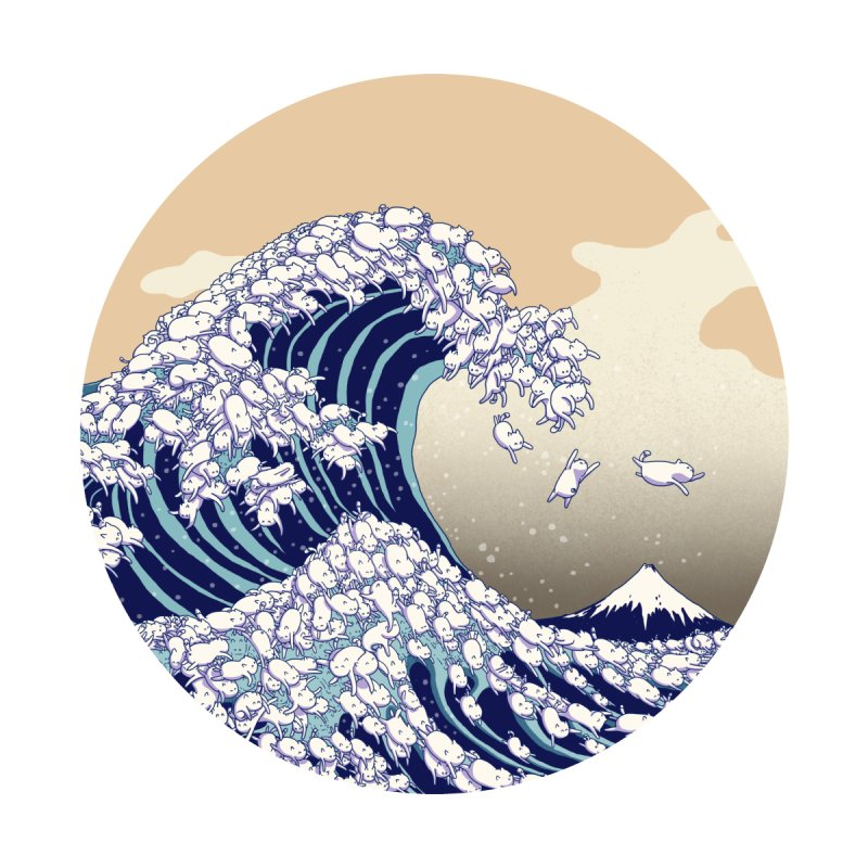 the great wave of kawaii Men's T-Shirt by makapa's Artist Shop