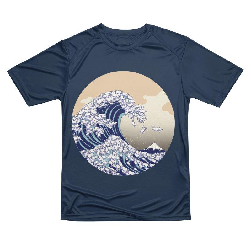 the great wave of kawaii Women's Performance Unisex T-Shirt by makapa's Artist Shop
