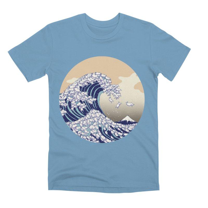 the great wave of kawaii Men's Premium T-Shirt by makapa's Artist Shop