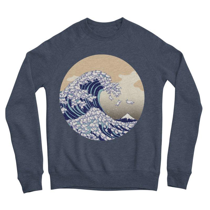 the great wave of kawaii Women's Sponge Fleece Sweatshirt by makapa's Artist Shop