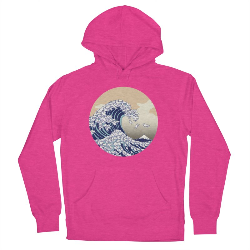 the great wave of kawaii Men's French Terry Pullover Hoody by makapa's Artist Shop