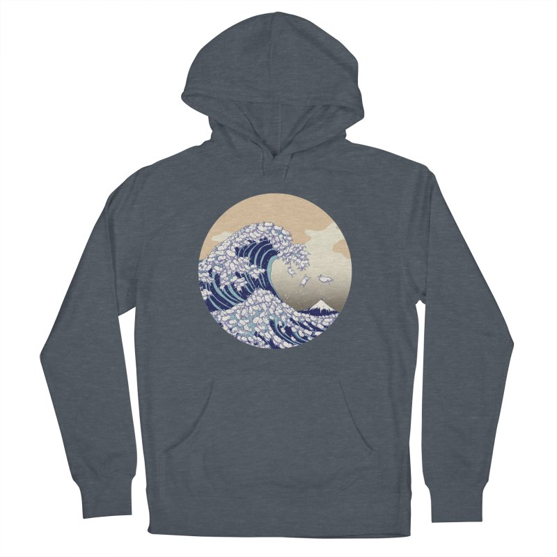 the great wave of kawaii Women's French Terry Pullover Hoody by makapa's Artist Shop