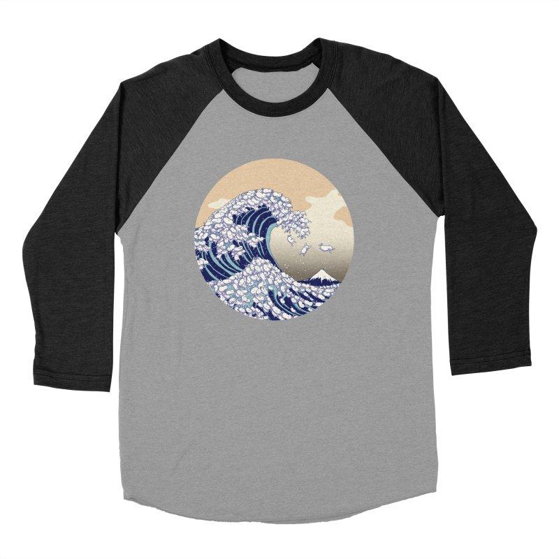 the great wave of kawaii Women's Baseball Triblend Longsleeve T-Shirt by makapa's Artist Shop