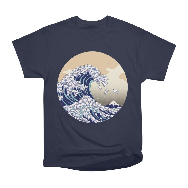the great wave of kawaii Men's Heavyweight T-Shirt by makapa's Artist Shop
