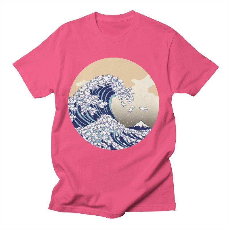 the great wave of kawaii Men's Regular T-Shirt by makapa's Artist Shop