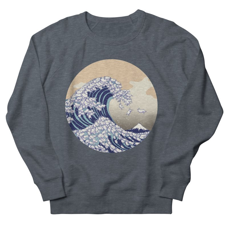 the great wave of kawaii Women's French Terry Sweatshirt by makapa's Artist Shop