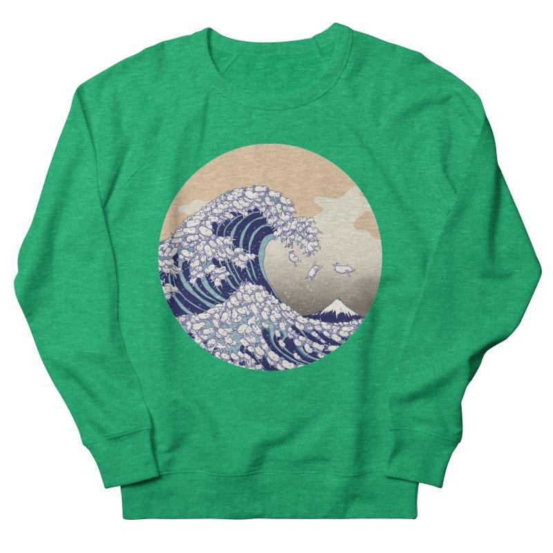 the great wave of kawaii Men's French Terry Sweatshirt by makapa's Artist Shop