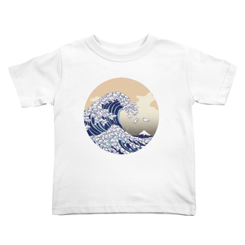 the great wave of kawaii Kids Toddler T-Shirt by makapa's Artist Shop