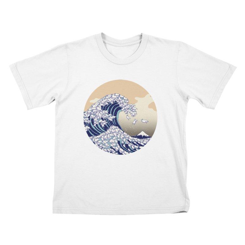 the great wave of kawaii Kids T-Shirt by makapa's Artist Shop