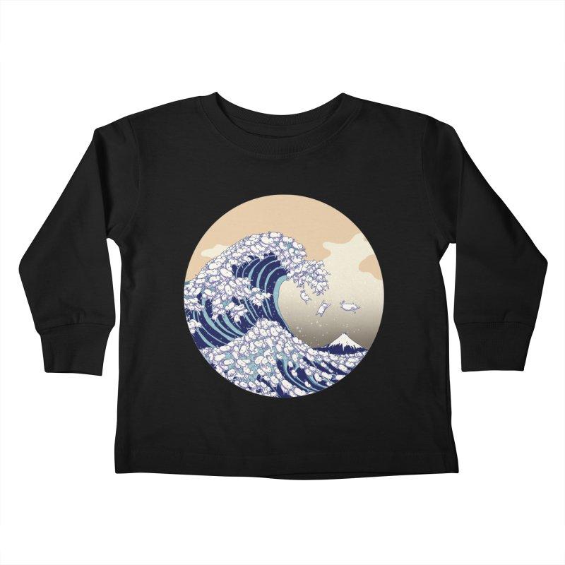 the great wave of kawaii Kids Toddler Longsleeve T-Shirt by makapa's Artist Shop