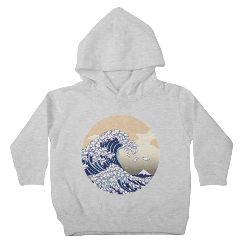 the great wave of kawaii Kids Toddler Pullover Hoody by makapa's Artist Shop