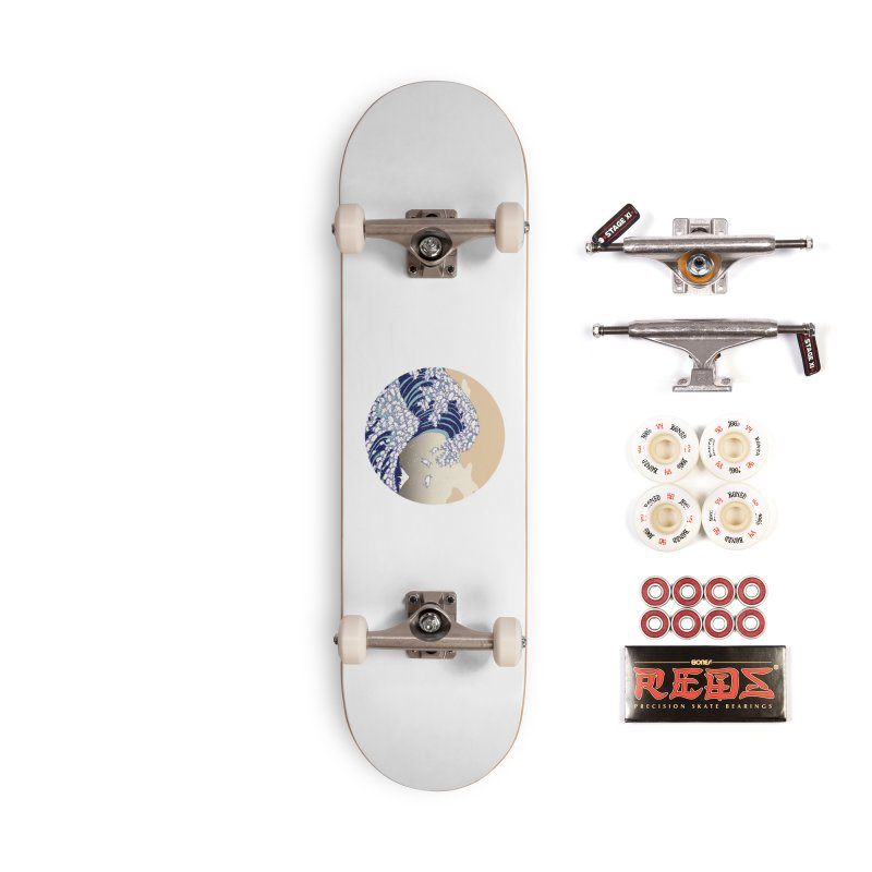 the great wave of kawaii Accessories Complete - Pro Skateboard by makapa's Artist Shop