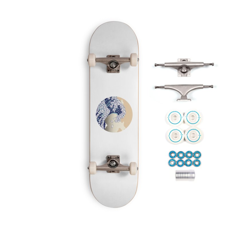 the great wave of kawaii Accessories Complete - Basic Skateboard by makapa's Artist Shop