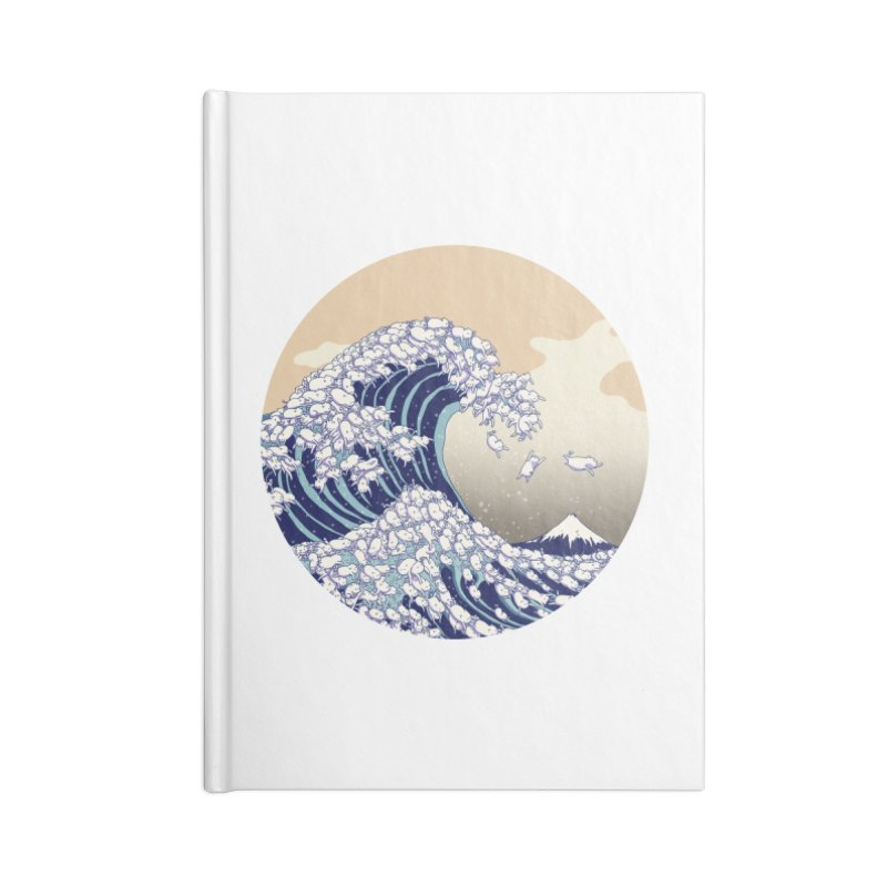 the great wave of kawaii Accessories Lined Journal Notebook by makapa's Artist Shop