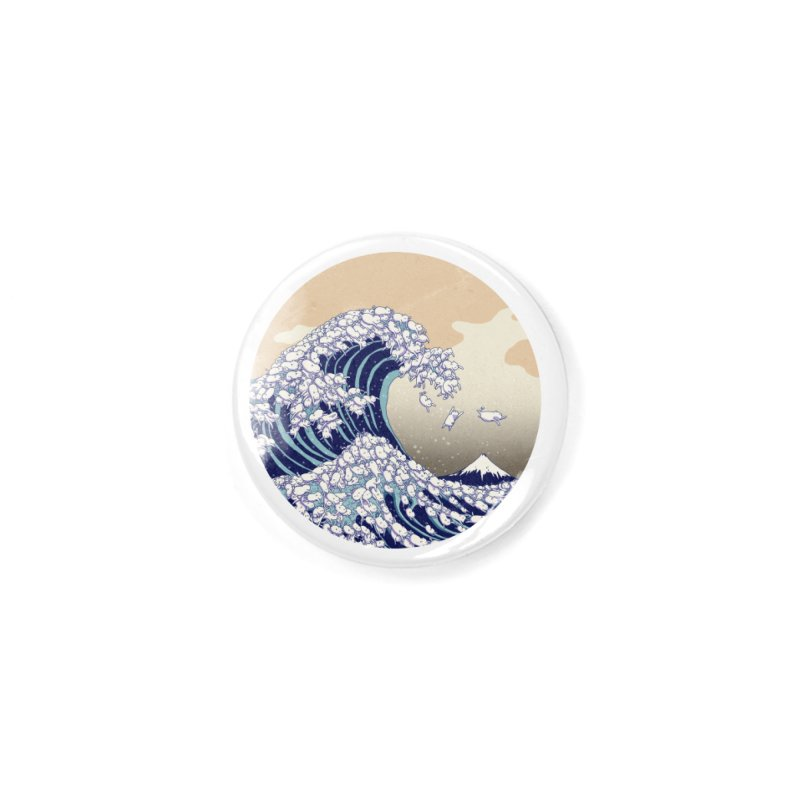 the great wave of kawaii Accessories Button by makapa's Artist Shop