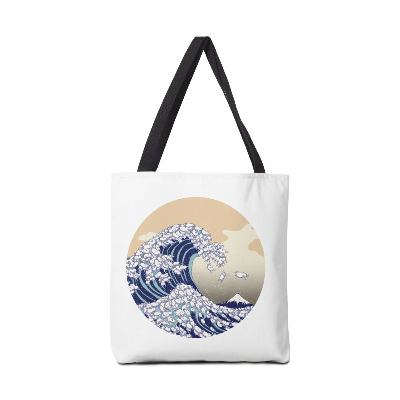 the great wave of kawaii Accessories Tote Bag Bag by makapa's Artist Shop