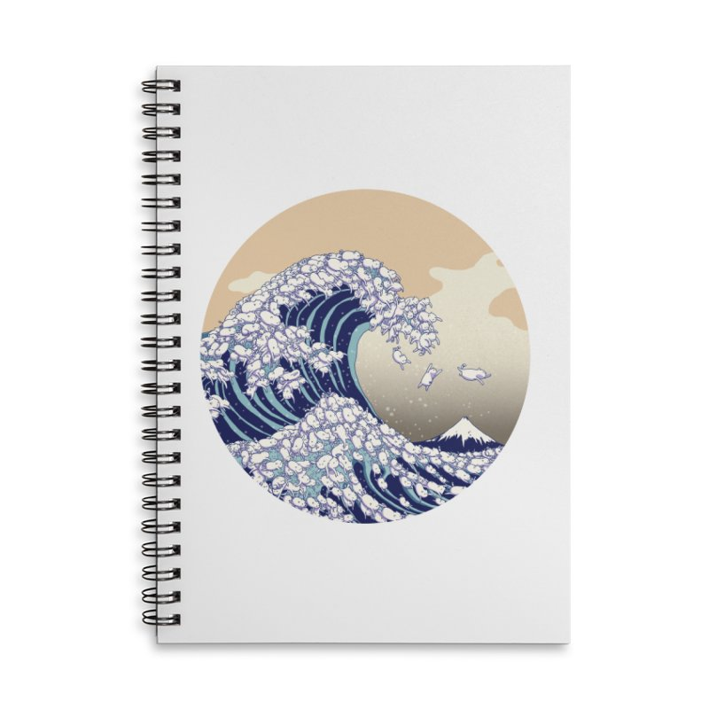 the great wave of kawaii Accessories Lined Spiral Notebook by makapa's Artist Shop