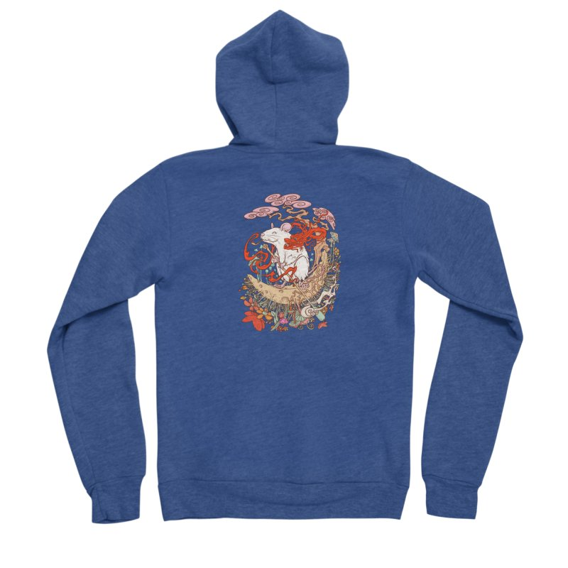 The king of rat Men's Sponge Fleece Zip-Up Hoody by makapa's Artist Shop