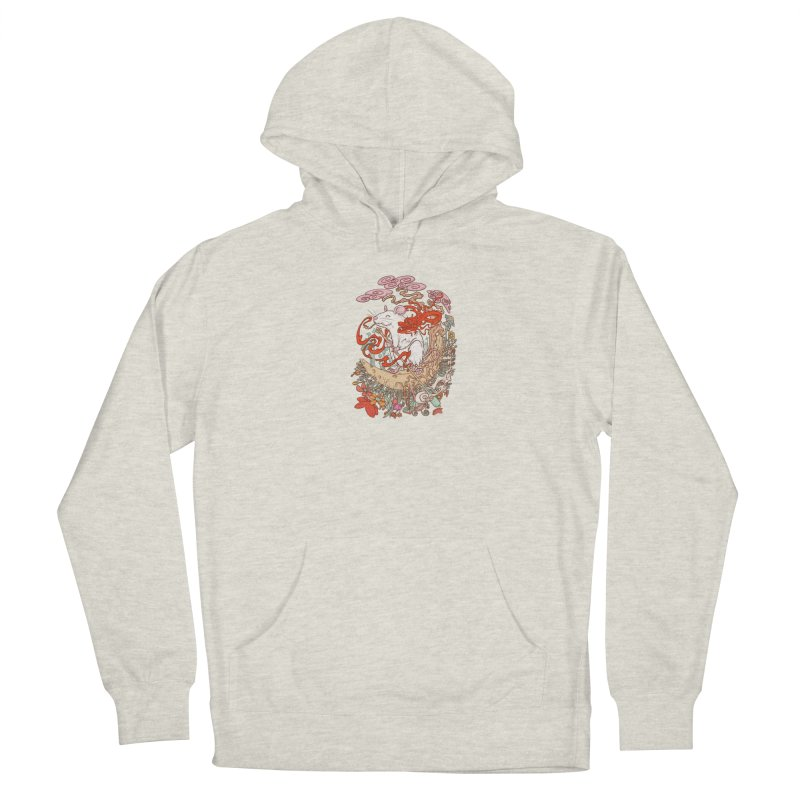 The king of rat Men's French Terry Pullover Hoody by makapa's Artist Shop