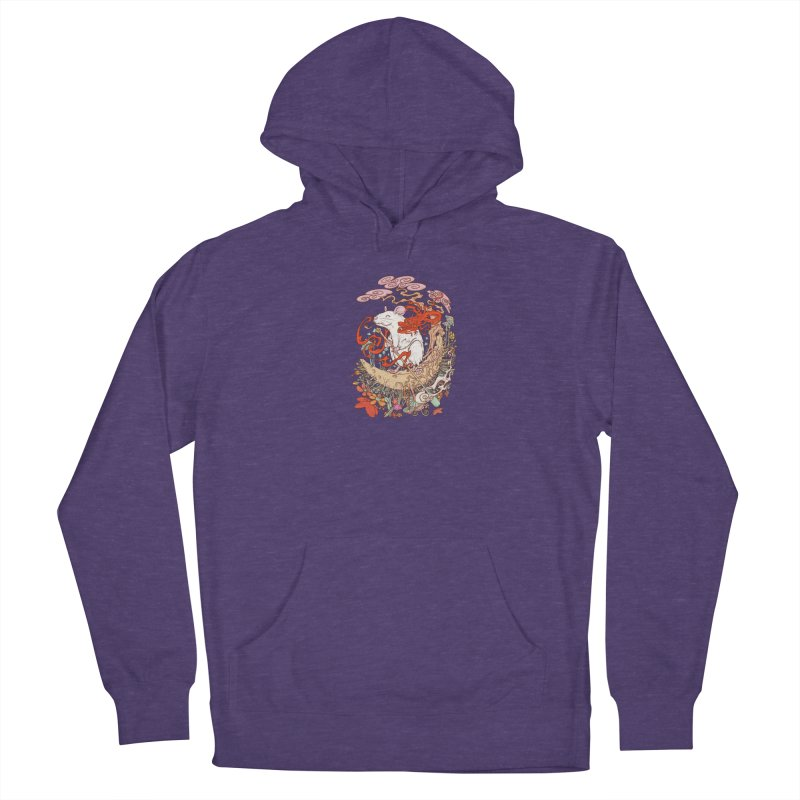 The king of rat Women's French Terry Pullover Hoody by makapa's Artist Shop
