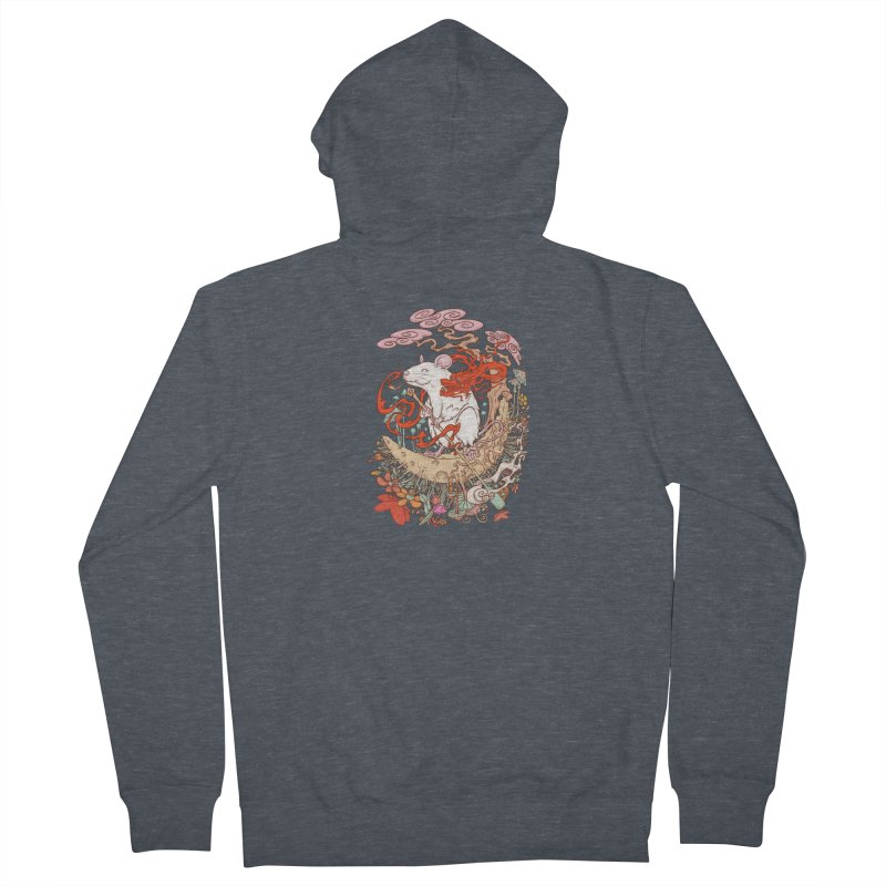 The king of rat Men's French Terry Zip-Up Hoody by makapa's Artist Shop